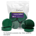 Element Orthodontic Retainer Case - Green, Case of 100 boxes. Big enough