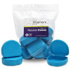 Element Orthodontic Retainer Case - Sky Blue, Bag of 10 boxes. Big enough