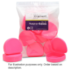 Element Orthodontic Retainer Case - Pink, Case of 100 boxes. Big enough to hold