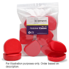 Element Orthodontic Retainer Case - Red, Case of 100 boxes. Big enough to hold