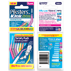 Piksters Kink Interdental Brushes - variety pack sizes 00 - 6, 8/pack, angled