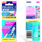 Piksters Kink Interdental Brushes - #0, 8/Pk. Angled handle reduces the need