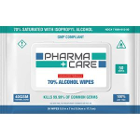 "Pharmacare 70% Isopropyl Alcohol Wipes, 5.5""x7"", 50/pack"