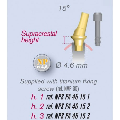 Etk 15 Degree Abutment Angulated Natural Implant 35mm Np 46mm 35
