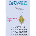 ETK Plural Straight Abutment Natural Implant 3.5mm NP 4.6mm h: 2.2 mm Supplied with Burn