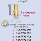 ETK Straight Trans Screwed ABUTMENTS Natural Implant 3.5mm NP 4.6mm h: 3 mm