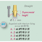 ETK Straight Trans Screwed ABUTMENTS Natural Implant 4.0 - 4.5mm RP 5.1mm h: 2mm