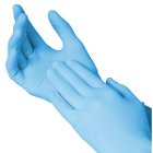 Fisherbrand Nitrile Exam Gloves Blue-Small, 100/Box. Textured, Rolled Cuff