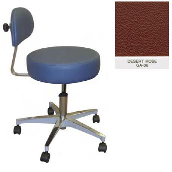 Superb Galaxy Doctors Stool Round Seat With Comfortable Back Support Desert Rose Frankydiablos Diy Chair Ideas Frankydiabloscom