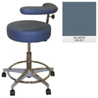 "Galaxy Assistant's Stool - Atlantis Color. 16"" dia. x 3-1/2"" Thick Round Seat"