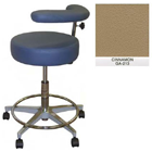 "Galaxy Assistant's Stool - Cinnamon Color. 16"" dia. x 3-1/2"" Thick Round Seat"