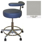 "Galaxy Assistant's Stool - Cloud Grey Color. 16"" dia. x 3-1/2"" Thick Round Seat"