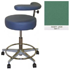 "Galaxy Assistant's Stool - Dusty Jade Color. 16"" dia. x 3-1/2"" Thick Round Seat"