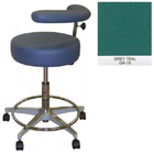 "Galaxy Assistant's Stool - Grey Teal Color. 16"" dia. x 3-1/2"" Thick Round Seat"