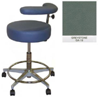 "Galaxy Assistant's Stool - Greystone Color. 16"" dia. x 3-1/2"" Thick Round Seat"
