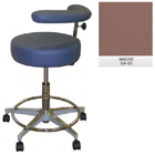 "Galaxy Assistant's Stool - Mauve Color. 16"" dia. x 3-1/2"" Thick Round Seat"