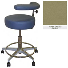 "Galaxy Assistant's Stool - Tumbleweed Color. 16"" dia. x 3-1/2"" Thick Round Seat"