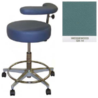 "Galaxy Assistant's Stool - Wedgewood Color. 16"" dia. x 3-1/2"" Thick Round Seat"
