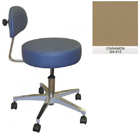 Galaxy Doctor's Stool-Round Seat with Comfortable Back Support - Cinnamon