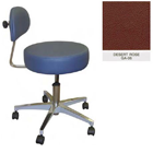 Galaxy Doctor's Stool-Round Seat with Comfortable Back Support - Desert Rose