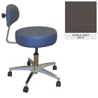 Galaxy Doctor's Stool-Round Seat with Comfortable Back Support - Purple Grey