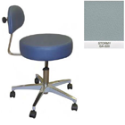 Galaxy Doctor's Stool-Round Seat with Comfortable Back Support - Stormy Color