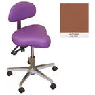 Galaxy Hygienist Stool with Back Support - Autumn Color. With 2-way adjustable height and back