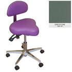Galaxy Hygienist Stool with Back Support - Greystone Color. With 2-way adjustable height and back