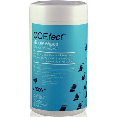"COEfect Minute Wipes Surface Disinfectant, 7"" x 9"