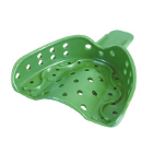 COE Spacer Trays #7D Small Green Perforated Upper Full-Arch Plastic Impression