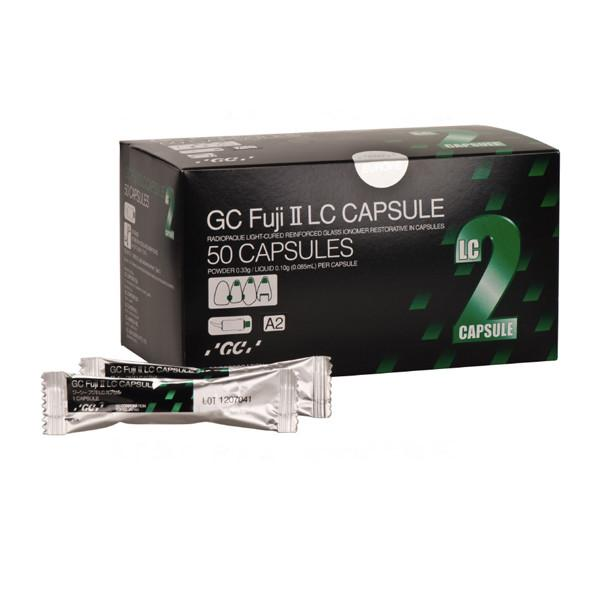 GC Fuji II LC A2 capsules, 50/Pk. EXPORT PACKAGE.