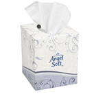 "Angel Soft ps Premium Facial Tissue, Cube Box, White. 7.65"" x 8.85"", 96 Sheets"