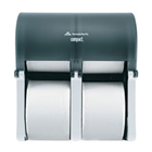 Compact Quad Vertical Four Roll Coreless Tissue Dispenser High Capacity, 11.75