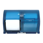 Compact Splash Blue, Side-By-Side Double Roll Bathroom Tissue Dispenser, 10.12