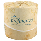 Preference Embossed Bathroom Tissue, 2-Ply, White, 4.00