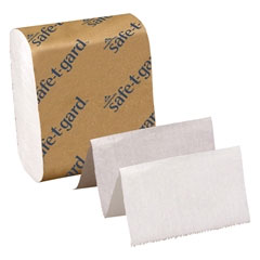 "Safe-T-Gard Interfolded 2-Ply Tissues, White 4"" x"