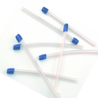 GooDent Saliva Ejectors Clear/Blue with Wire-Reinforced Tube and Bonded