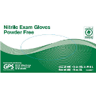 GPS Nitrile Exam Gloves: Small, Powder-free, Textured, Blue, 300/box