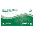 GPS Latex Exam Gloves: SMALL Powder-Free, micro-textured, non-sterile 100/Bx