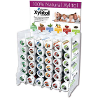 Miradent 72 assorted flavor tubes of XYLITOL chewing gum in an acrylic display