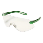 Outbacks Protective eyewear, GREEN frames and clear lens ophthalmic quality