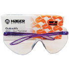 Outbacks Protective eyewear, PURPLE frames and clear lens ophthalmic quality