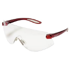 Outbacks Protective eyewear, RED frames and clear lens ophthalmic quality