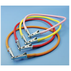 "Super Assorted color 14"" bib clips, autoclavable, plastic chain with nickel"