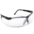 Uvex Genesis Safety Glasses - Black Frame Clear Lens. Have a cushioned, vented