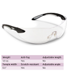 Uvex Ignite Safety Glasses - Black & Silver Frame with Clear Lens. Safety