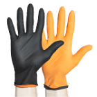 Black-Fire Small Nitrile Exam Gloves, 150/Pk - With proprietary Quick-Check