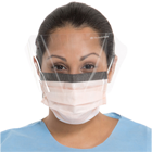 FluidShield Orange Fog-Free Fluid Resistant Procedure Mask with Wraparound