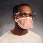 FluidShield 3 N95 Particulate Filter Respirator and Surgical Mask, Orange