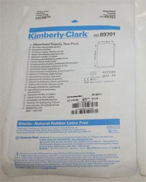 Kimberly-Clark Absorbent Towels, Two-Pack, Steril